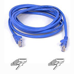 Belkin - UTP CAT5e 3m cable de red U/UTP (UTP) Azul