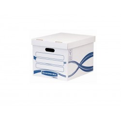 Fellowes - 4460801 caja de almacenaje Rectangular Papel Azul, Blanco