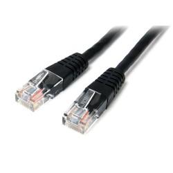 StarTech.com - Cable de Red Ethernet 15m UTP Patch Cat5e Cat 5e RJ45 Moldeado - Negro