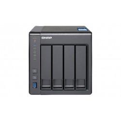 QNAP - TS-431X Ethernet Torre Negro NAS