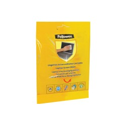 Fellowes - 25 Laptop Screen Cleaning Wipes