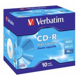 Verbatim - CD-R High Capacity CD-R 800MB 10pieza(s)