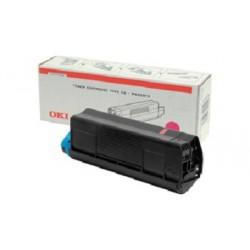 OKI - 42127406 Tóner de láser 5000páginas Magenta tóner y cartucho láser