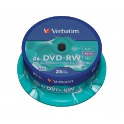 Verbatim - DVD-RW Matt Silver 4,7 GB 25 pieza(s)