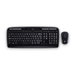 Logitech - MK330 RF inalámbrico QWERTY Español Negro, Gris teclado