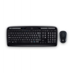 Logitech - MK330 teclado RF Wireless QWERTY Español Black, Gris
