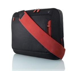 """Belkin - Messenger Bag 17"""", Jet/Cabernet 17"""" Bandolera Negro"""