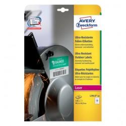 Avery - L7913-10 etiqueta autoadhesiva Rectángulo redondeado Permanente Blanco 120 pieza(s)