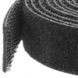 StarTech.com - Gestionador de Cableado con Gancho y Bucle - Tiras de Gestión de Cables Autoadherentes - Bobina de 7,5m