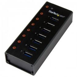StarTech.com - Concentrador USB 3.0 de 7 Puertos con Caja de Metal - Hub de Sobremesa o Montaje en Pared