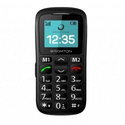 """Brigmton - BTM-11 1.7"""" 85g Negro Teléfono para personas mayores teléfono móvil"""