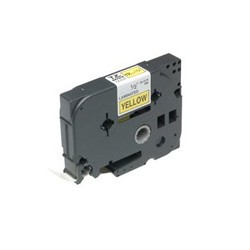 Brother - Gloss Laminated Labelling Tape - 18mm, Black/Yellow cinta para impresora de etiquetas TZ