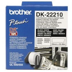 Brother - Cinta continua de papel térmico (blanca) - DK-22210