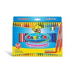Carioca - Birello rotulador Fino/Medio Multicolor 24 pieza(s)