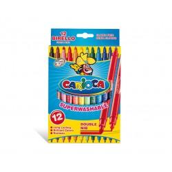 Carioca - Birello Fine/Medium Multicolor 12pieza(s) rotulador