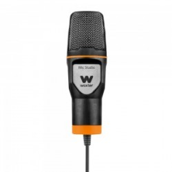 Woxter - Mic-Studio Micrófono de estudio Alámbrico Negro, Naranja