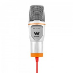 Woxter - Mic-Studio Micrófono de estudio Alámbrico Naranja, Blanco