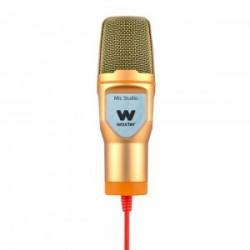 Woxter - Mic-Studio Micrófono de estudio Alámbrico Oro, Naranja