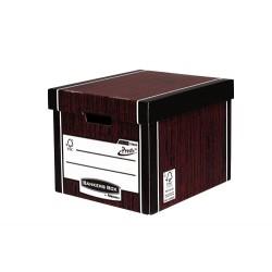 Fellowes - 7260501 Papel Negro, Rojo caja y organizador para almacenaje de archivos
