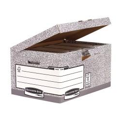 Fellowes - 1181501 Papel Gris caja y organizador para almacenaje de archivos