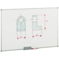 FAIBO - Pizarra Blanca Magnetica 60X90 Marco aluminio