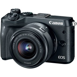 Canon - EOS M6 + EF-M 15-45mm 3.5-6.3 IS STM MILC 24.2MP CMOS 6000 x 4000Pixeles Negro
