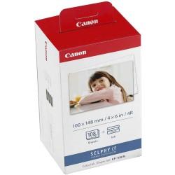 Canon - KP-108IN papel fotográfico Rojo, Blanco