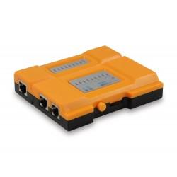 Equip - 12996507 comprobador de cables de red Naranja, Negro, Amarillo
