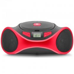 SPC - Clap Boombox Reproductor de CD Negro/Rojo 4501R