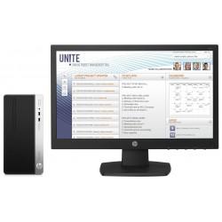 HP - ProDesk 400 G4 MT + V197 3.4GHz i5-7500 Micro Torre Negro, Plata PC