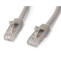StarTech.com - Cable de Red Gigabit Ethernet 15m UTP Patch Cat6 Cat 6 RJ45 Snagless Sin Enganches - Gris