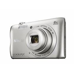 "Nikon - COOLPIX A300 Cámara compacta 20,1 MP 1/2.3"" CCD 5152 x 3864 Pixeles Plata"