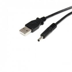 StarTech.com - Cable Adaptador de Alimentación de 90cm USB a Conector Coaxial Tipo H 5V DC - Macho a Macho