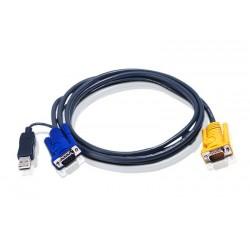 Aten - 2L5203UP cable para video, teclado y ratón (kvm) 3 m Negro