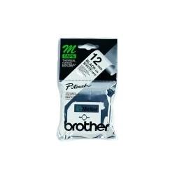 Brother - Labelling Tape - 12mm, Black/White, Blister M cinta para impresora de etiquetas