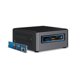 Intel - NUC BOXNUC7I5BNHX1 PC/estación de trabajo barebone i5-7260U 2,2 GHz Negro, Gris