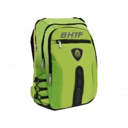KeepOut - BK7F mochila Imitación piel, Nylon Black, Verde - BK7FG