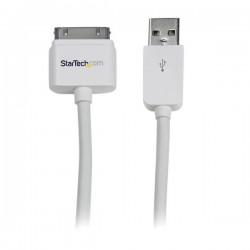 StarTech.com - Cable Cargador 3m Conector Dock Connector 30 Pines de Apple a USB 2.0 iPod, iPhone y iPad USB A