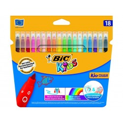 BIC - Kid Couleur rotulador Medio Multicolor 18 pieza(s)