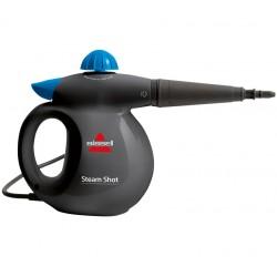 Bissell - Steam Shot Limpiador a vapor portátil 0.36L 1050W Azul, Titanio
