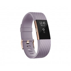 Fitbit - Charge 2 Wristband activity tracker Oro, Rosa OLED Inalámbrico