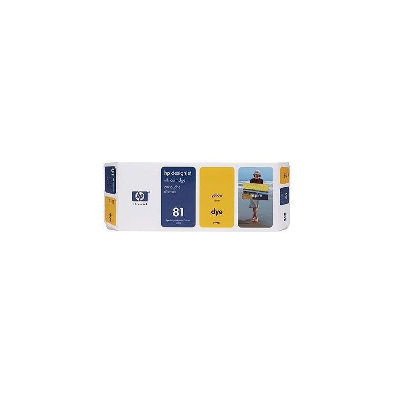 HP - Cartucho de tinta colorante DesignJet 81 amarillo de 680 ml ...