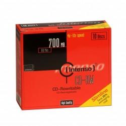 Intenso - CD-RW 700MB / 80min, 12x CD-RW 700MB 10pieza(s)