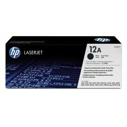 HP - Cartucho de tóner original LaserJet 12A negro