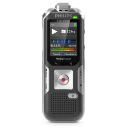Philips - Voice Tracer DVT6010 Tarjeta flash Antracita, Plata dictáfono