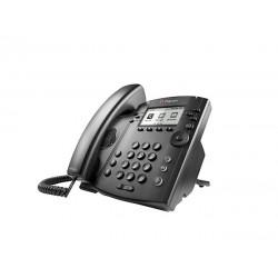Polycom - VVX 301 teléfono IP Negro Terminal con conexión por cable LCD 6 líneas