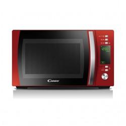 Candy - CMXG20DR Encimera Microondas con grill 20L 700W Negro, Rojo, Acero inoxidable