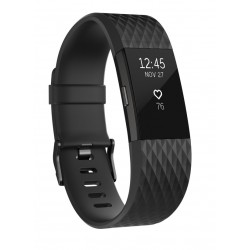 Fitbit - Charge 2 Wristband activity tracker OLED Inalámbrico Antracita, Negro - 22108539