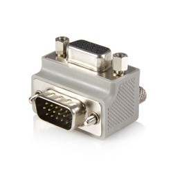 StarTech.com - Right Angle VGA / VGA Cable Adapter Type 1 - M/F DB15 Gris