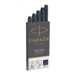 Parker - 1950385 Negro, Azul 5pieza(s) Recambio de bolígrafo